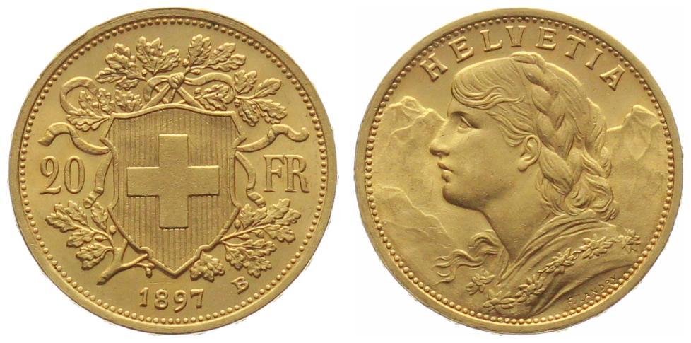 20 Franken Vreneli Goldvreneli