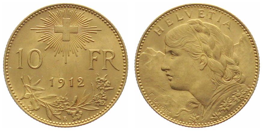 10 Franken Vreneli Goldvreneli