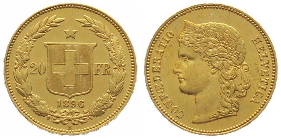 20 Franken Helvetia Goldhelvetia